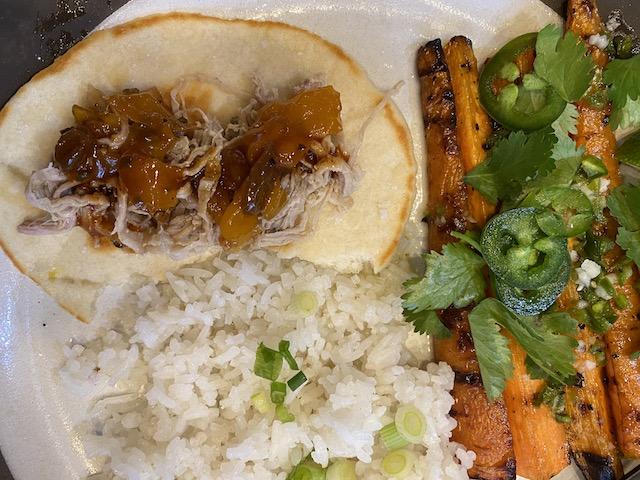 Coconut Pork and Mango-Habenero Chutney
