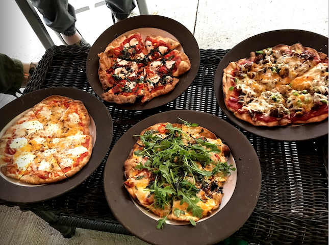 Grilled Pizzas for a Crowd