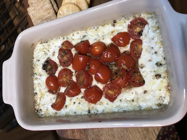 Baked Herbed Goat Cheese with Tomato