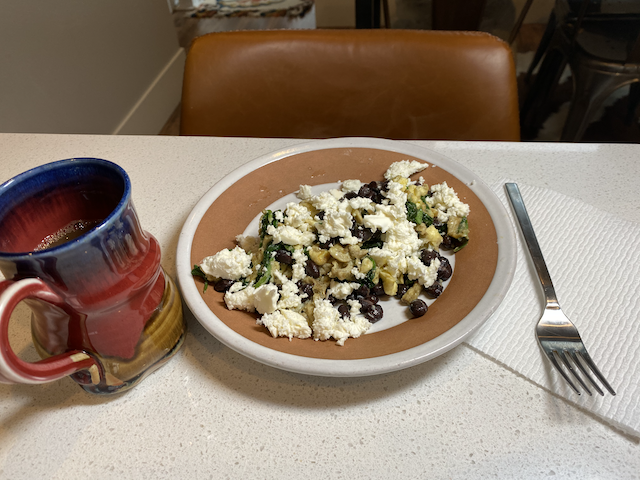 A Spinach-Feta Kind of Morning