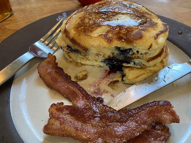 Sunday Blueberry Pancakes