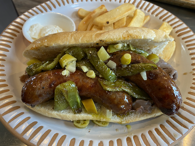 Quick-Hacked Chicago-style Italian Beef/Sausage Combo